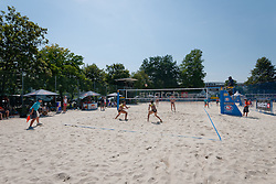 View on the side court at A1 Beach Volleyball Grand Slam tournament of Swatch FIVB World Tour 2011, on August 3, 2011 in Klagenfurt, Austria. (Photo by Matic Klansek Velej / Sportida)