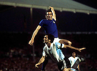 "Football Fifa Germany1974 World Cup / Group 4 / <br /> Italy vs Argentina 1-1  ( Neckarstadium - Stuttgard , Germany )<br /> Luigi Riva "" Gigi Riva "" of Italy , on action during the match"