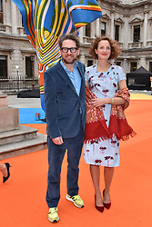 Rupert Sanderson and Rowan Routh at the Royal Academy of Arts Summer Exhibition Preview Party 2017, Burlington House, London England. 7 June 2017.