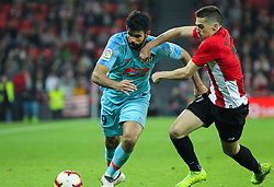 March 16, 2019 - Bilbao, Vizcaya, Spain - Diego Costa of Atletico de Madrid and Cordoba of Athletic de Bilbao in action during La Liga Spanish championship, , football match between Athletic de Bilbao and Atletico de Madrid, March 16th, in Nuevo San Mames Stadium in Bilbao, Spain. (Credit Image: © AFP7 via ZUMA Wire)
