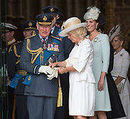 Camilla Assists Prince Charles With Gloves