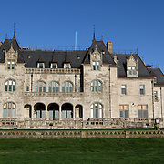 Salve Regina University. Ochre Court Administrative Building. Newport, Rhode Island, USA. The building was originally banker Ogden Goelet's summer cottage in Newport.
