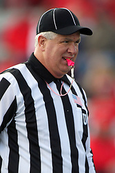 20 October 2012:  Umpire Steve Flanagan during an NCAA Missouri Valley Football Conference football game between the Missouri State Bears and the Illinois State Redbirds at Hancock Stadium in Normal IL