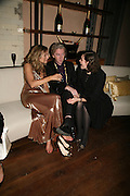 LUCY YEOMANS, PHILIP TREACY AND JASMINE GUINNESS. Lucy Yeomans Editor of Harper's Bazaar and Moet and Chandon host the Gold Party. 17 Berkeley St. London W1. 1 November 2007. -DO NOT ARCHIVE-© Copyright Photograph by Dafydd Jones. 248 Clapham Rd. London SW9 0PZ. Tel 0207 820 0771. www.dafjones.com.