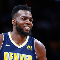 09 March 2018: Denver Nuggets forward Paul Millsap (4) is seen during the Denver Nuggets125-116 victory over the Los Angeles Lakers, at the Pepsi Center, Denver, Colorado, USA.
