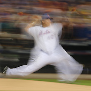 Bartolo Colon, New York Mets, pitching during the New York Mets Vs Los Angeles Dodgers, game four of the NL Division Series at Citi Field, Queens, New York. USA. 13th October 2015. Photo Tim Clayton