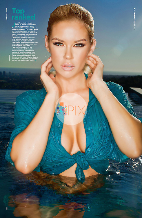 Babetastic! Jessa Hinton makes a stunning 'centerfold' for the July issue of Sport Magazine in the UK.  <br />