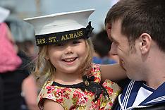 UK: Navy ship returns to Portsmouth, 5 August 2016