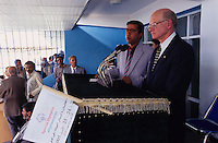 SPECIAL OLYMPICS AFGHANISTAN 2005.Kabul, 23 August 2005.U.S. Ambassador Ronald E. Neumann at the speech corner during the SOA's Official Opening at the Ghazi Stadium