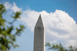 June 1, 2017 - Washington, DC, United States - A view of the Washington Monument from the Rose Garden of the White House, On Thursday, June 1, 2017. (Photo by Cheriss May) (Credit Image: © Cheriss May/NurPhoto via ZUMA Press)