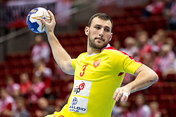 10.04.2016, Ergo Arena, Gdansk, POL, IHF Herren, Olympia Qualifikation, Chile vs Mazedonien, im Bild Dejan Manaskov // during the IHF men's Olympic Games handball qualifier between Chile and Macedonia at the Ergo Arena in Gdansk, Poland on 2016/04/10. EXPA Pictures © 2016, PhotoCredit: EXPA/ Newspix/ Tomasz Zasinski<br /> <br /> *****ATTENTION - for AUT, SLO, CRO, SRB, BIH, MAZ, TUR, SUI, SWE only*****