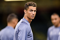 Cristiano Ronaldo of Real Madrid during the training session ahead the UEFA Champions League Final between Real Madrid and Juventus at the National Stadium of Wales, Cardiff, Wales on 2 June 2017. Photo by Giuseppe Maffia.<br /> Giuseppe Maffia/UK Sports Pics Ltd/Alterphotos