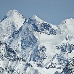 Tete Blanche Patrouille des Glacier 21 April 2010 Zermatt, von rechts, Castor, Breithorn Liskamm