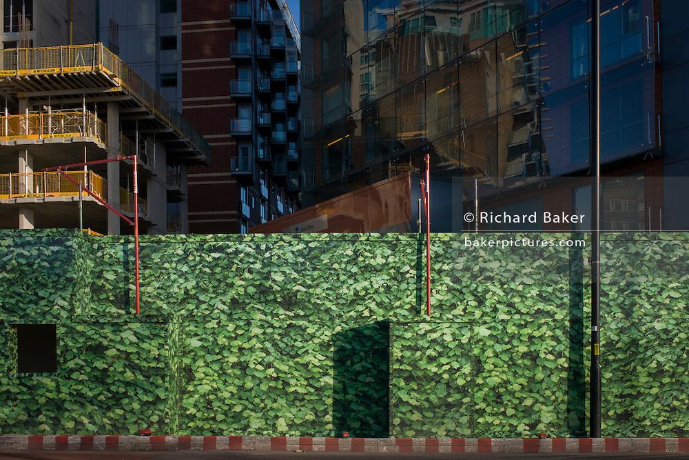 Lambeth property development construction hoarding landscape.