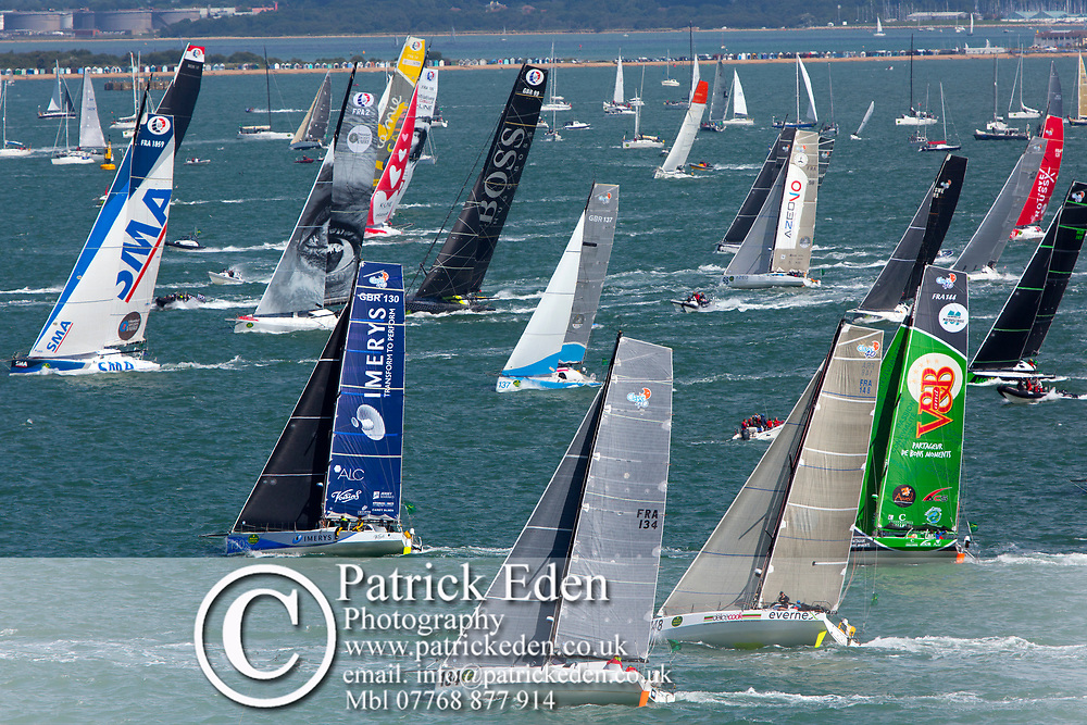 Hugo Boss, Imerys, VRB, SMA, Sunday 6th August, Start of the, 2017, Fastnet Race, Cowes, Isle of Wight, England, 2017, Rolex,