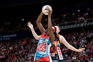 SYDNEY, NSW - JUNE 16: Sam Wallace of the Swifts catches the ball during the round 8 Super Netball match between the Sydney Swifts and the Giants at Qudos Bank Arena on June 16, 2019 in Sydney, Australia.(Photo by Speed Media/Icon Sportswire)