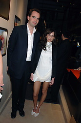 FRITZ VON WESTENHOLZ and CAROLINE SIEBER at a party at shoe store Sergio Rossi, 207 Sloane Street, London on 4th April 2007.<br />