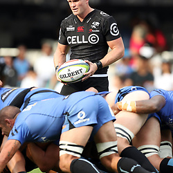 Michael Claassens of the Cell C Sharks during the Super Rugby match between the Cell C Sharks and the Western Force at Growthpoint Kings Park on May 06, 2017 in Durban, South Africa. (Photo by Steve Haag)