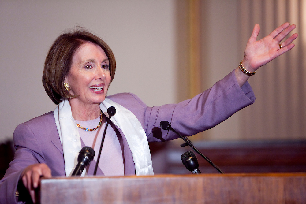 House Speaker Nancy Pelosi (D-CA) speaks at an event advocating for greater freedoms in Tibet on Mar. 9, 2009 in Washington, DC. This month marks the 50th anniversary since the Dalai Lama fled to exile in India.