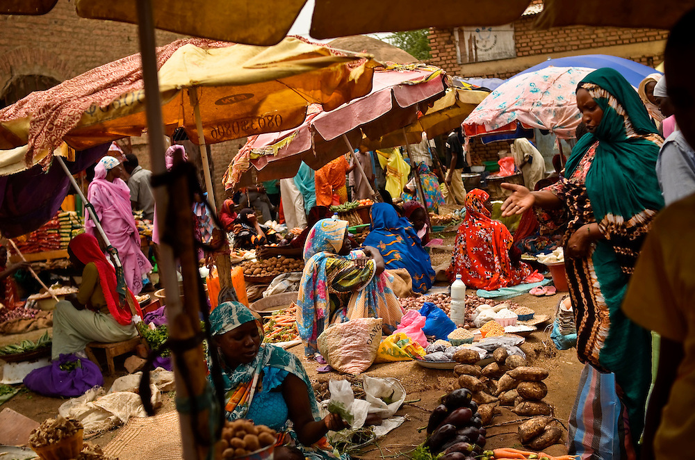 Street market in downtown Abeche, Chad.