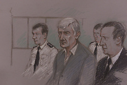 The Old Bailey, Kenneth Noyl case. Artist Impression. April 3, 2000. Photo by Andrew Parsons / i-images..