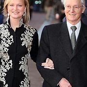 NLD/Amsterdam/20080201 - Verjaardagsfeest Koninging Beatrix en prinses Margriet, aankomst Carolina en vader Karel Hugo van Bourbon - Parma