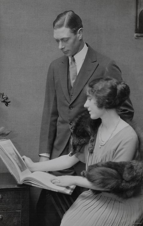 Royal Family: H.R.H. Duke of York & Lady Elizabeth Bowes Lyon, England, UK, 1923