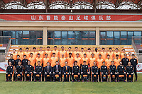 **EXCLUSIVE**Group shot of players of Shandong Luneng Taishan F.C. for the 2018 Chinese Football Association Super League, in Ji'nan city, east China's Shandong province, 24 February 2018.