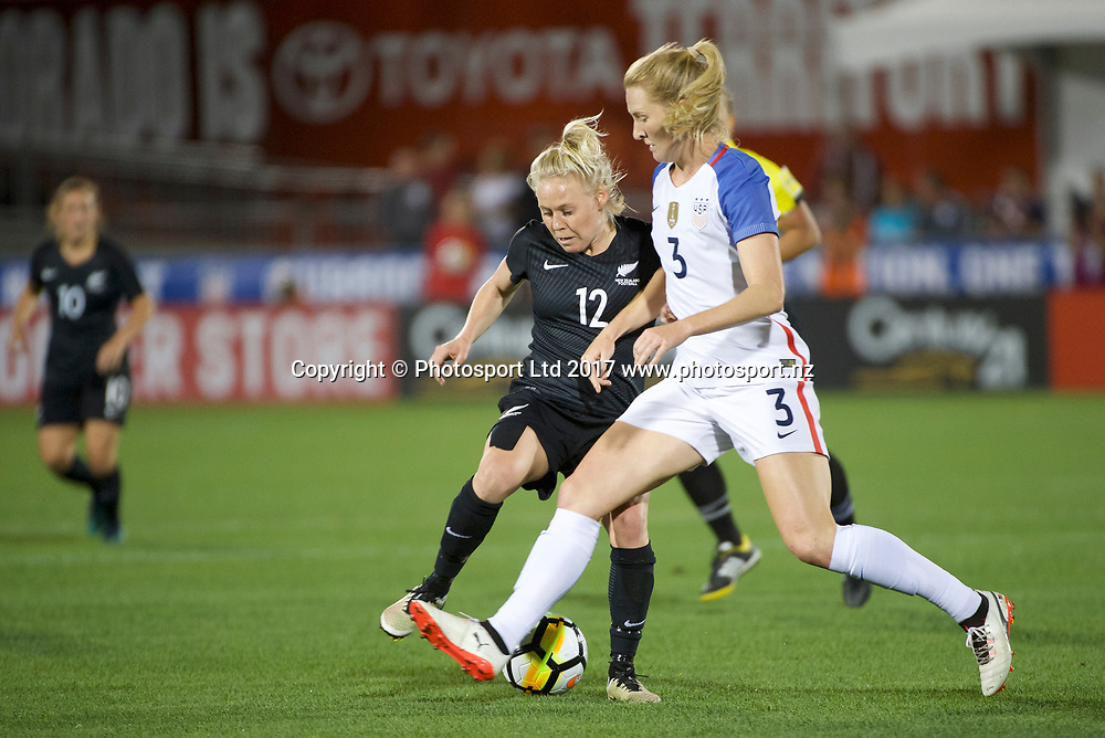 Betsy Hassett.<br /> Commerce City, Colorado - Friday September 15, 2017:  The USWNT takes on the New Zealand Women's National Football Team at Dick's Sporting Goods Park. Copyright photo: Jamie Schwaberow / ISI / www.photosport.nz