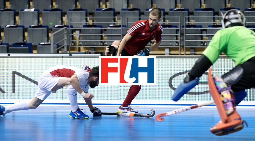 BERLIN - Indoor Hockey World Cup<br /> Men: Iran - Russia<br /> foto: PROSKURIAKOV Mikhail.<br /> WORLDSPORTPICS COPYRIGHT FRANK UIJLENBROEK