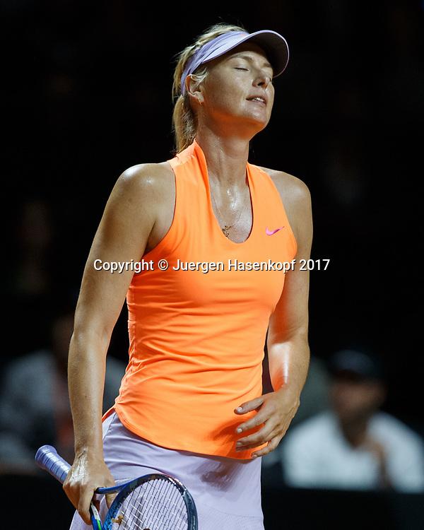 MARIA SHARAPOVA (RUS) reagiert enttaeuscht,Emotion,<br /> <br /> Tennis - Porsche  Tennis Grand Prix 2017 -  WTA -  Porsche-Arena - Stuttgart -  - Germany  - 26 April 2017.