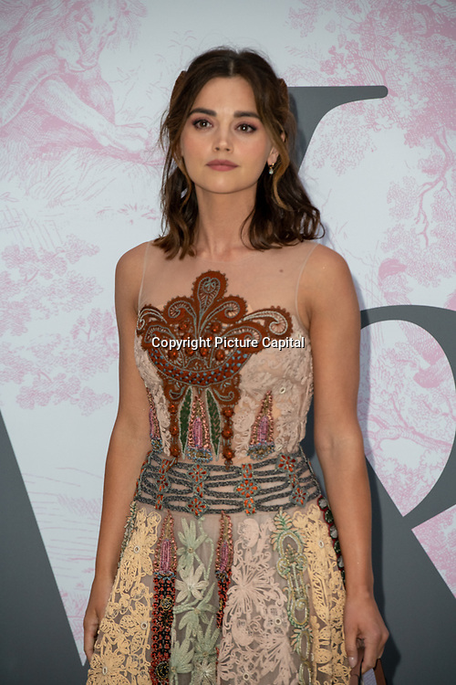Jenna Coleman arrives at V&A - summer party, on 19 June 2019, London, UK