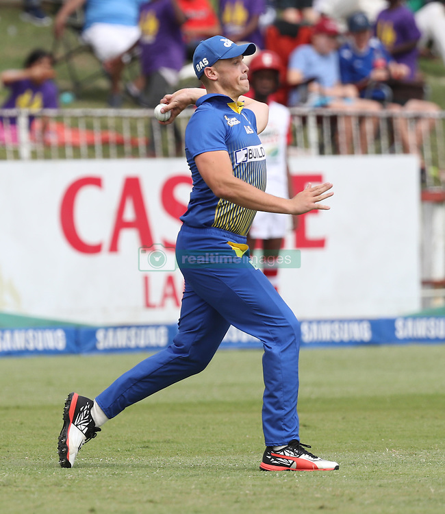 George Linde of BuildNat Cape Cobras during the T20 Challenge cricket match between the Dolphins and the Cobras at the Kingsmead stadium in Durban, KwaZulu Natal, South Africa on the 4th December 2016<br /> <br /> Photo by:   Steve Haag / Real Time Images