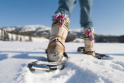 Snowshoeing in the Yukon.