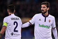 Gonzalo Rodriguez, Davide Astori Fiorentina <br /> Roma 07-02-2017 Stadio Olimpico Football Calcio Serie A 2016/2017 <br /> AS Roma - Fiorentina Foto Andrea Staccioli / Insidefoto<br /> Fiorentina captain Davide Astori dies suddenly aged 31 . <br /> Astori was staying a hotel with his team-mates ahead of their game on Sunday away at Udinese when he passed away. <br /> Foto Insidefoto