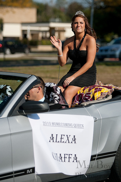 Alexa Chaffa, Glassboro High School 2010 Homecoming Queen rides in the Glassboro High School and Rowan University Homecoming Parade on Saturday October 2, 2011. (Photo / Mat Boyle)