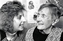 Carer & elderly woman, Nottingham UK 1992