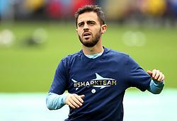 Bernardo Silva of Manchester City warms up - Mandatory by-line: Matt McNulty/JMP - 14/10/2017 - FOOTBALL - Etihad Stadium - Manchester, England - Manchester City v Stoke City - Premier League