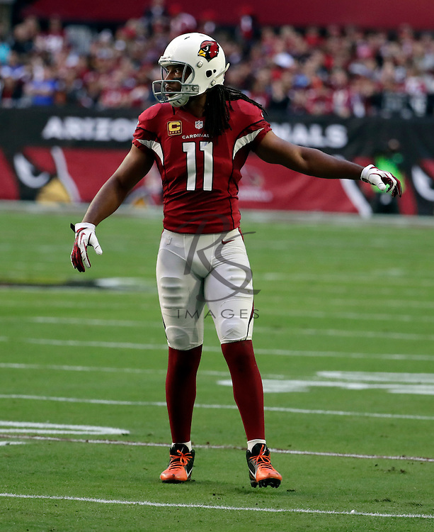 Arizona Cardinals wide receiver Larry Fitzgerald (11) during an NFL football game against the Washington Redskins, Sunday, Dec. 4, 2016, in Glendale, Ariz. (AP Photo/Rick Scuteri)