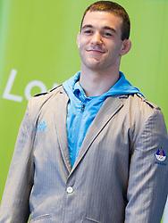 Aljaz Sedej during presentation of Slovenian Olympic and Paralympic team for London 2012, on July 6, 2012 in Ljubljana's Castle, Ljubljana, Slovenia.  (Photo by Vid Ponikvar / Sportida.com)