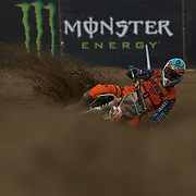 Jose Butron absolutely ripped the berm in the first turn!