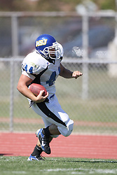 15 September 2007:  Joel Steinmetz runs the sidelines. The Titans stood toe to toe with the 25th ranked Lions through the first half but ended the game on the losing end of a 25-15 score at Wilder Field on the campus of Illinois Wesleyan University in Bloomington Illinois.