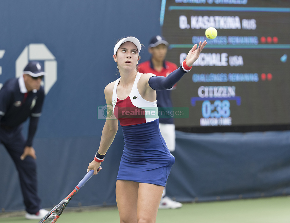 August 31, 2017 - New York, New York, United States - Christina McHale of USA serves during match against Daria Kasatkina of Russia at US Open Championships at Billie Jean King National Tennis Center  (Credit Image: © Lev Radin/Pacific Press via ZUMA Wire)