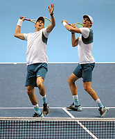 Tennis - 2017 Nitto ATP Finals  at The 02 - Day Two, Monday<br /> <br /> Jamie Murray and Bruno Soares v Bob Bryan and Mike Bryan (USA)<br /> <br /> <br /> <br /> <br /> COLORSPORT/ANDREW COWIE