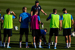 Matjaz Kek head coach of Slovenian national team with players during practice session of Slovenian national football team in national football center in Brdo, 2nd of September, 2019, NNC Brdo. Photo by Grega Valancic / Sportida