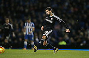 Brentford defender Yoann Barbet during the Sky Bet Championship match between Brighton and Hove Albion and Brentford at the American Express Community Stadium, Brighton and Hove, England on 5 February 2016.