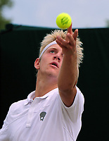 Tennis - 2017 Wimbledon Championships - Week Two, Friday [Day Elevenn]<br /> <br /> Boys Singles, Quarter Final match<br /> <br /> Alejandro Davidovich Fokina (ESP) vs. Yibing Wu  (CHN)<br /> <br /> Alejandro Davidovich Fokina on  Court 12<br /> <br /> COLORSPORT/ANDREW COWIE