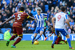 Solly March of Brighton & Hove Albion on the attack - Mandatory by-line: Jason Brown/JMP - 27/12/2016 - FOOTBALL - Amex Stadium - Brighton, England - Brighton & Hove Albion v Queens Park Rangers - Sky Bet Championship