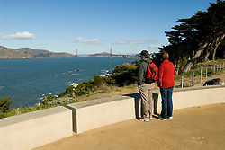 California: San Francisco. Land's End view of the Golden Gate. Photo copyright Lee Foster. Photo #: 25-casanf75838