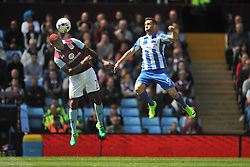 SAM BALDOCK BRIGHTON AND HOVE ALBION BATTLES WITH ASTON VILLA LEANDRO BACUNA, Aston Villa v Brighton &amp; Hove Albion Sky Bet Championship Villa Park, Brighton Promoted to Premiership Sunday 7th May 2017 Score 1-1 <br /> Photo:Mike Capps